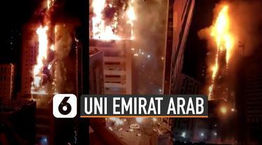 ABBCO Tower di Sharjah, Uni Emirate Arab terbakar hebat Selasa (5/5/20) malam. Namun ada kisah menarik dalam tragedi itu.