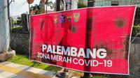 Kota Palembang Sumsel masih berstatus zona merah Covid-19 (Liputan6.com / Nefri Inge)