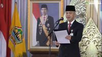 Gubernur Jawa Tengah Ganjar Pranowo melantik 21 kepala daerah di Gedung Gradhika Bhakti Praja, Semarang, Jumat (26/2/2021). (Liputan6.com/ Pemprov Jateng)