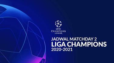 Berita motion grafis jadwal Liga Champions 2020-2021 matchday ke-2. Barcelona tantang Juventus di Allianz Stadium, Turin.