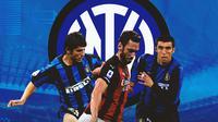 Inter Milan - Emre Belozoglu, Hakan Calhanoglu, Hakan Sukur (Bola.com/Adreanus Titus)