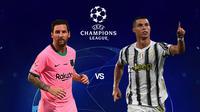 Liga Champions - Barcelona Vs Juventus - Head to Head Lionel Messi Vs Cristiano Ronaldo (Bola.com/Adreanus Titus)