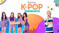 Simak selengkapnya Bintang K-Pop Hits of the Week seperti berikut ini. (Foto: avatanplus, pinterest, Desain: Nurman Abdul Hakim/Bintang.com)