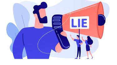 Ilustrasi kata-kata bijak, pembohong