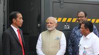 Presiden Jokowi bersama PM India melakukan kerja sama pertahanan dengan penandatanganan MoU antara Tata Motors dan Pindad (dok.PT Pindad)