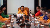 Partai-partai pendukung pasangan Basuki Tjahaja Purnama (Ahok) dan Djarot Saiful Hidayat menggelar pertemuan di Jakarta, Selasa (7/3). Pertemuan dilakukan untuk konsolidasi persiapan putaran kedua pilgub DKI Jakarta. (Liputan6.com/Johan Tallo)