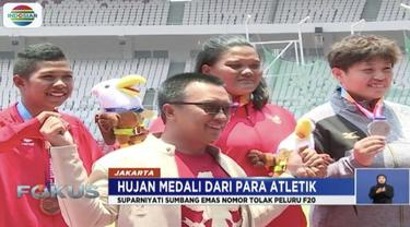 Atlet cabang olahraga para atletik sumbang enam medali di ajang Asian Para Games 2018.