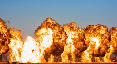 Ilustrasi mimpi, ledakan