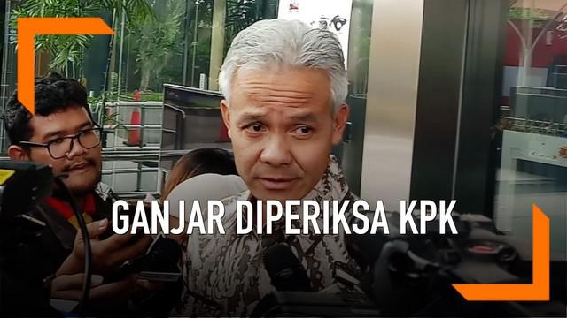 Komisi Pemberantasan Korupsi (KPK) memeriksa Gubernur Jawa Tengah Ganjar Pranowo dalam penyidikan kasus tindak pidana korupsi pengadaan KTP-elektronik (e-KTP), Jumat (10/5/2019).