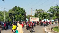 Ribuan buruh di Pulogadung mulai bergerak ke Jakarta