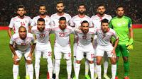 Tim nasional Tunisia pada November 2017. (AFP/Fethi Belaid)