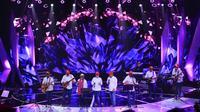 Elek Yo Band saat tampil di Konser Amal Untuk NTB. (Foto: Adrian Putra/Bintang.com)