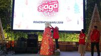 Director Sales Telkomsel Ririn Widaryani dalam pembukaan roadshow Naru 2019 (sumber: Telkomsel)