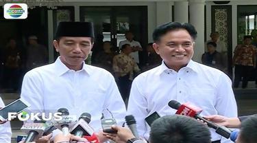 Yusril Ihza Mahendra tegaskan akan gelar deklarasi dukungan untuk Jokowi-Ma'ruf pada Rakernas PBB pada Januari 2019.