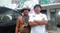 Pawang hujan siap menyukseskan kampanye akbar Jokowi-Ma'ruf di Karawang. (Liputan6.com/Abramena)