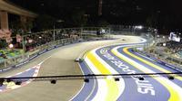 Sirkuit jalanan Marina Bay yang menggelar balapan F1 GP Singapura. (Liputan6.com/Cakrayuri Nuralam)