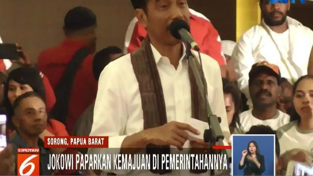 Usai menyapa warga, Jokowi langsung menuju Gedung Aimas Convention Center untuk bertemu kader dan relawan pendukungnya.