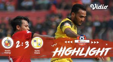 Pertandingan #ShopeeLiga1, antara #SemenPadangFC VS #BaritoPutera yang berlangsung di Stadion Haji Agus Salim (Kompleks Olahraga d...