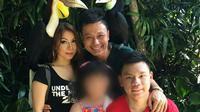 FR sekeluarga semasa hidupnya saat mengabadikan momen berlibur di Bali (Dok. Instagram Yentin Margareth / Nefri Inge)