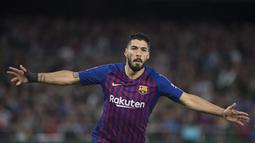 2. Luis Suarez (Barcelona) - 18 gol dan 6 assist (AFP/Jorge Guerrero)