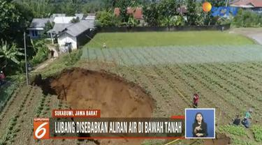 BMKG menyatakan fenomena tanah amblas yang terjadi di Kadudampit, Sukabumi, akibat air di bawah tanah.