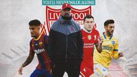 Liverpool - Jurgen Klopp, Philippe Coutinho, James Milner, Adam Lallana (Bola.com/Adreanus Titus)