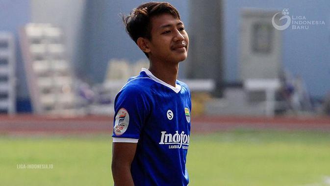Pemain muda Persib Bandung, Beckham Putra Nugraha. (Liga-Indonesia)