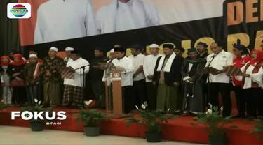 Deklarasi yang berlangsung di salah satu rumah makan di Kota Serang, Banten, diawali pembacaan deklarasi dukungan Jokowi dua periode.