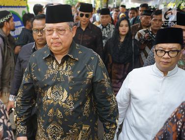 Didampingi Anak dan Menantu, SBY Datang ke Rumah Duka BJ Habibie