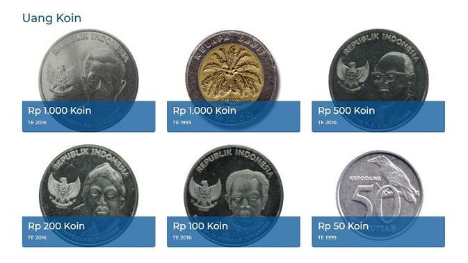 Gambar Tangkapan Layar Foto Uang Logam dari Situs bi.go.id