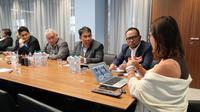Usai mengikuti International Labour Conference (ILC) Ke-108 di Jenewa, Swiss, Menteri Ketenagakerjaan M. Hanif Dhakiri melakukan kunjungan kerja ke Instituto Marangoni di Kota Milan, Italia.