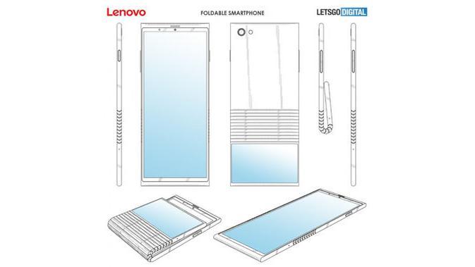 Paten smartphone layar lipat Lenovo. (Doc: LetGoDigital)