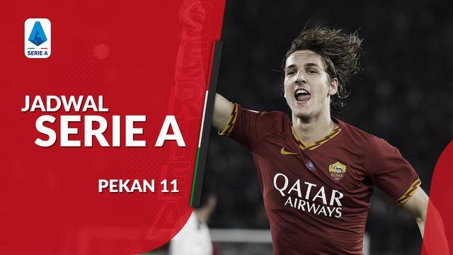 Berita video jadwal Serie A 2019-2020 pekan ke-11. AS Roma hadapi Napoli, Sabtu (2/11/2019) di Stadion Olimpico, Roma.