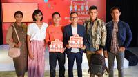 Shopee apresiasi brand lokal jelang 11.11 Fashion Day di rangkaian Shopee 11.11 Big Sale. (Liputan6.com/Asnida Riani)