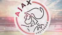 Logo Ajax Amsterdam - Saat ke Indonesia (Bola.com/Adreanus Titus)