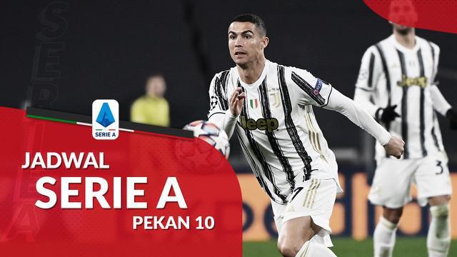 Berita motion grafis jadwal Liga Italia 2020-2021 pekan ke-10. Juventus hadapi Torino di Allianz Stadium, Minggu (6/12/2020).