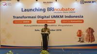 BRI meluncurkan program inkubasi bisnis untuk usaha mikro, kecil, dan menengah (UMKM) yang diberi nama BRIncubator di Solo, Jawa Tengah, Jumat (28/9/2018). (Fajar Abrori/Liputan6.com)