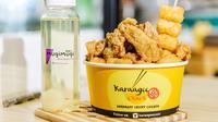 Penggemar makanan Jepang chicken karaage harus mencoba 12 pilihan saus khas dari Karaage Oishi yang bisa diambil sepuasnya