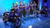 Peluncuran New Yamaha Rp 25 dan R3 di Jakarta, Kamis (11/10/2018). (Septian/Liputan6.com)