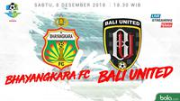 Liga 1 2018 Bhayangkara FC Vs Bali United (Bola.com/Adreanus Titus)