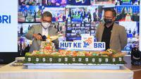 Direktur Utama BRI Sunarso mengatakan HUT ke-125 ini merupakan sebuah momentum besar bagi BRI untuk tetap berkomitmen memberikan yang terbaik bagi Tanah Air Indonesia.