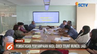 Asosiasi Televisi Swasta Indonesia (ATVSI) ajukan uji materi pembatasan penyampaian berita quick count Pemilu ke Mahkamah Agung.