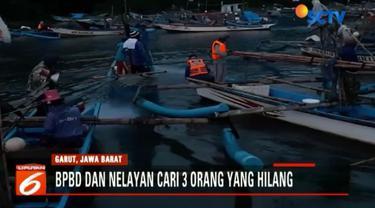 Ketiga orang itu berangkat dari dermaga tempat pelelangan ikan santoli menggunakan Perahu Sri Rejeki