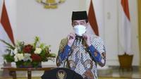 Presiden Joko Widodo (Jokowi) menyampaikan ucapan selamat kepada Nahdlatul Ulama (NU) di peringatan hari lahir (harlah) ke-95 salah satu ormas Islam terbesar di Indonesia tersebut pada Sabtu, 30 Januari 2021. (Biro Pers Sekretariat Presiden)