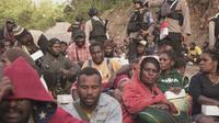 Baku tembak TNI Polri dan kelompok bersenjata terus terjadi di Tembagapura, warag memilih mengungsi dari kampungnya. (Liputan6.com/Katharina Janur/Polda Papua)