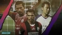 Ismed Sofyan, Ricardo Salampessy dan Hamka Hamzah. (Bola.com/Dody Iryawan)