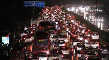 Monsoon traffic jam