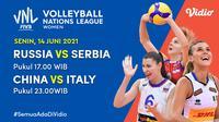 Live Streaming Volleyball Nations League 2021 di Vidio, Senin 14 Juni. (Sumber : dok. vidio.com)