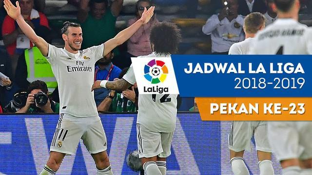 Berita video jadwal La Liga 2018-2019 pekan ke-23. Derbi Madrid jilid kedua, Sabtu (9/2/2019) di Stadion Wanda Metropolitano, Madrid.