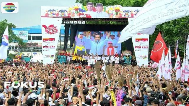 Sambangi Tangerang, Banten, Jokowi ingatkan pendukung tidak ciptakan suasana menakutkan saat kampanye.